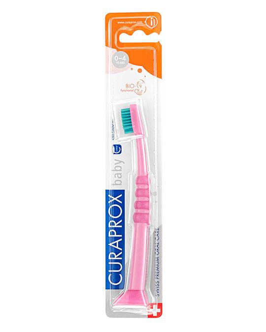 Szczoteczka do zębów dla dzieci, różowo-zielona