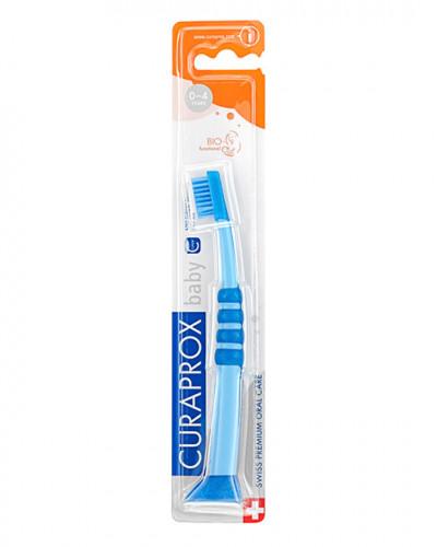Szczoteczka do zębów dla niemowląt, niebiesko-błękitna