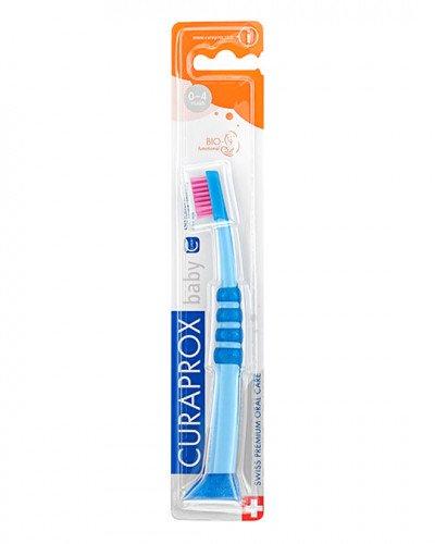 Szczoteczka do zębów dla dzieci, niebiesko-różowa