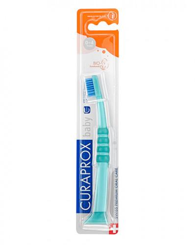 Szczoteczka do zębów dla niemowląt, zielono-niebieska
